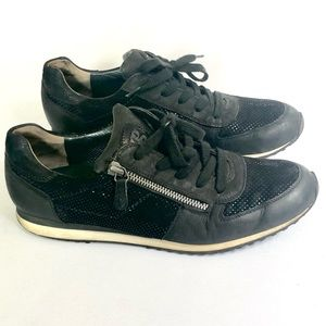 Paul Green leather and suede trainers